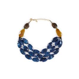 FACTUR BLUE JEWEL NECKLACE  - Plus Size Collection