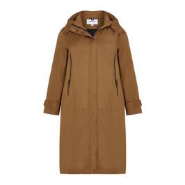 FRANDSEN COAT OCHRE - Plus Size Collection
