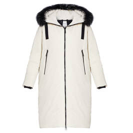 FRANDSEN PUFFER COAT WHITE - Plus Size Collection