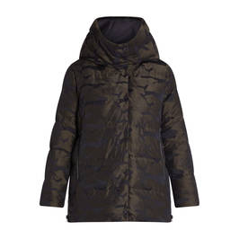 FRANDSEN CAMO PUFFER JACKET GREEN - Plus Size Collection