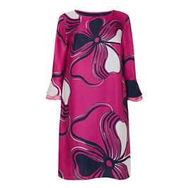 GAIA SATIN PRINT DRESS FUCHSIA - Plus Size Collection