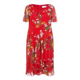 GAIA FLORAL PRINT TEA DRESS - Plus Size Collection