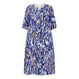 GAIA PAINTERLY PRINT DRESS LINEN - Plus Size Collection