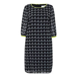 GAIA TRIANGLE PRINT GEORGETTE DRESS - Plus Size Collection