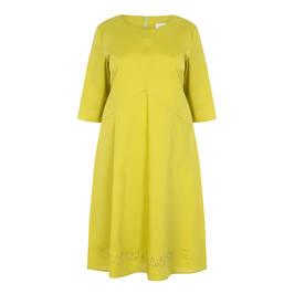 GAIA LIME POPLIN DRESS - Plus Size Collection