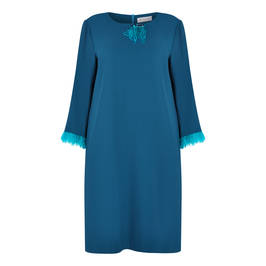 GAIA DRESS TEAL - Plus Size Collection