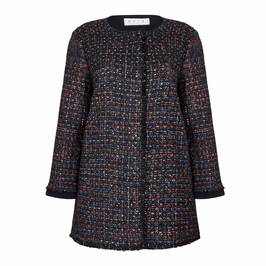 GAIA tweed long JACKET with lurex thread - Plus Size Collection