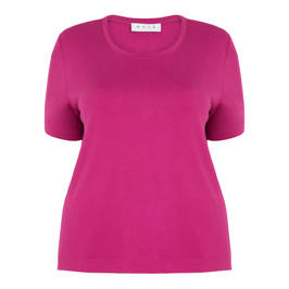 GAIA CLASSIC T-SHIRT FUCHSIA - Plus Size Collection