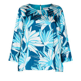 GAIA PRINTED TUNIC TEAL - Plus Size Collection