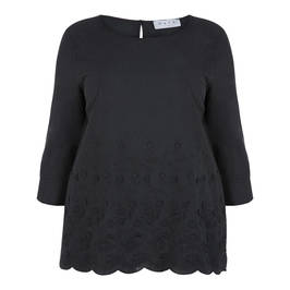GAIA EMBROIDERED TUNIC BLACK - Plus Size Collection