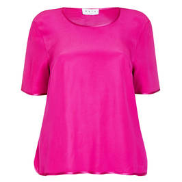 GAIA SATIN TUNIC FUCHSIA - Plus Size Collection