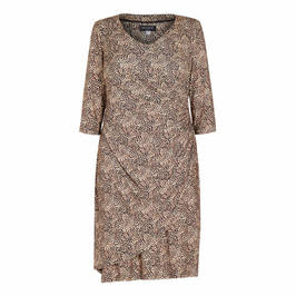 GEORGEDÉ WRAP OVER LEOPARD PRINT DRESS - Plus Size Collection