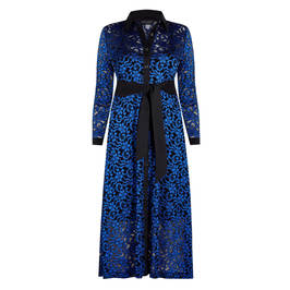 GEORGEDÉ COBALT LACE SHIRT DRESS WITH SLIP - Plus Size Collection