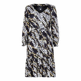 GEORGEDÉ ABSTRACT ANIMAL PRINT JERSEY DRESS - Plus Size Collection