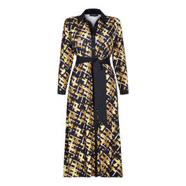 GEORGEDÉ BASKET WEAVE PRINT JERSEY SHIRT DRESS - Plus Size Collection