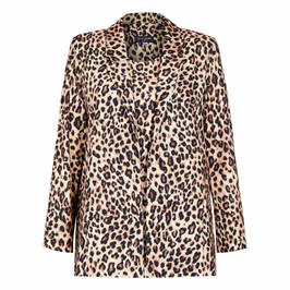 GEORGEDÉ SATIN JERSEY LEOPARD PRINT TWINSET - Plus Size Collection