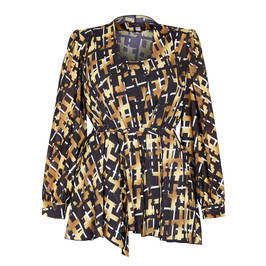 GEORGEDÉ GEORGETTE TWINSET BASKET WEAVE PRINT - Plus Size Collection