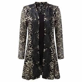 GEORGEDé gold lace Cardigan and vest top - Plus Size Collection