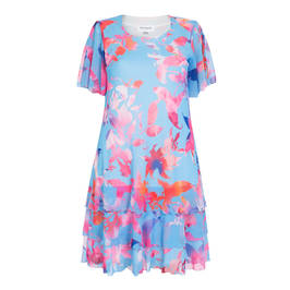 Georgedé FLORAL PRINT CHIFFON LAYER DRESS - Plus Size Collection