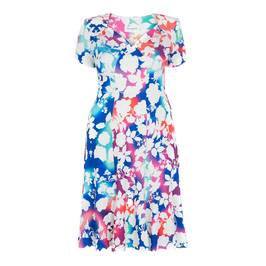 Georgedé FLORAL PRINT TEA DRESS - Plus Size Collection