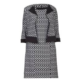 GEORGEDE BLACK AND GREY GEOMETRIC JACQUARD DRESS OUTFIT - Plus Size Collection