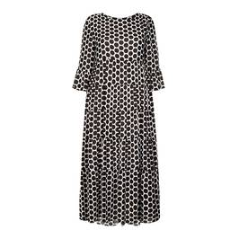 GEORGEDÉ BLACK AND WHITE MAXI DRESS - Plus Size Collection