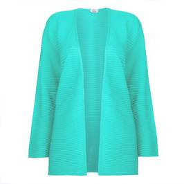 KARIN HORIZONTAL STRIPED MINT CARDIGAN  - Plus Size Collection