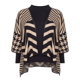 FABER INTARSIA CAPE AND BLACK TOP TWINSET - Plus Size Collection