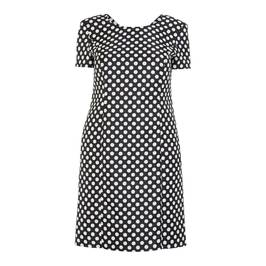HABELLA PRINCESS CUT POLKA DOT DRESS - Plus Size Collection