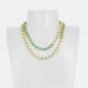 TWO STRAND SWAROVSKI CRYSTAL NECKLACE SAGE AND WHITE