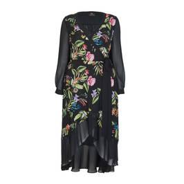 KIRSTEN KROG FLORAL PRINT WRAP DRESS - Plus Size Collection