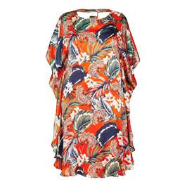 KIRSTEN KROG PURE SILK PRINT DRESS - Plus Size Collection