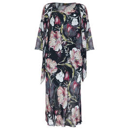 KIRSTEN KROG FLORAL PRINT GOWN AND CAPE - Plus Size Collection