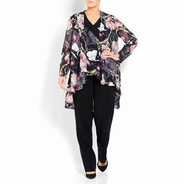 KIRSTEN KROG FLORAL PRINT JACKET AND TOP - Plus Size Collection