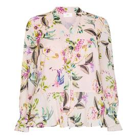 KIRSTEN KROG FLORAL PRINT PUSSY BOW TUNIC - Plus Size Collection