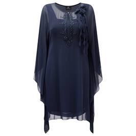 KIRSTEN KROG Navy chiffon kaftan DRESS - Plus Size Collection