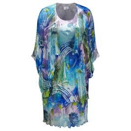 KIRSTEN KROG silk devoré Dress & Cape - Plus Size Collection
