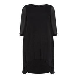 KIRSTEN KROG BLACK CHIFFON DRESS - Plus Size Collection
