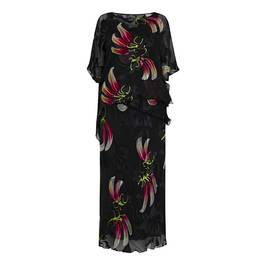 KIRSTEN KROG SILK BLEND DRESS AND PONCHO - Plus Size Collection