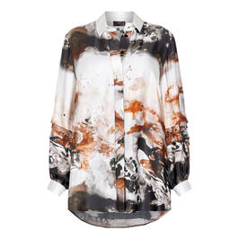 KIRSTEN KROG PAINTERLY PRINT SHIRT  - Plus Size Collection