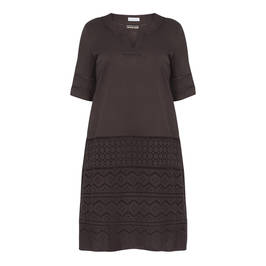 PER TE BY KRIZIA EMBROIDERED COTTON DRESS DARK BERRY - Plus Size Collection