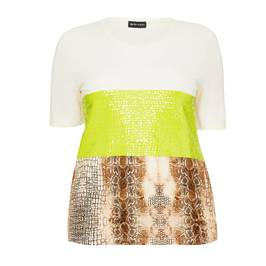 PER TE BY KRIZIA PRINT AND SEQUIN T-SHIRT - Plus Size Collection