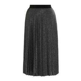 LOUISA VIOLA PLEATED LUREX SKIRT SILVER - Plus Size Collection