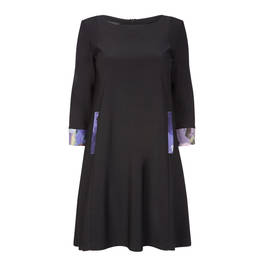 Georgedé dress with floral trim black - Plus Size Collection