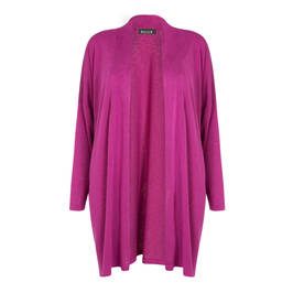 BEIGE LABEL FUCHSIA EDGE TO EDGE CARDIGAN - Plus Size Collection