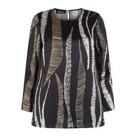 BEIGE LABEL LONG SLEEVE TUNIC  - Plus Size Collection