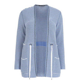FABER RIBBED CARDIGAN WITH RIBBON TIE - Plus Size Collection