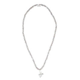 ELIZA GRACIOUS PEARL NECKLACE WITH HEART CLASP - Plus Size Collection