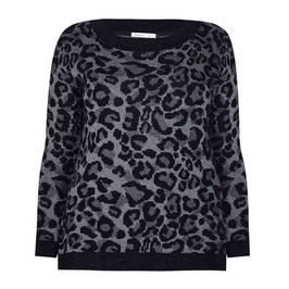 LUISA VIOLA LEOPARD PRINT INTARSIA SWEATER  - Plus Size Collection