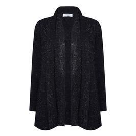 LUISA VIOLA CHENILLE LUREX LONG CARDIGAN BLACK - Plus Size Collection